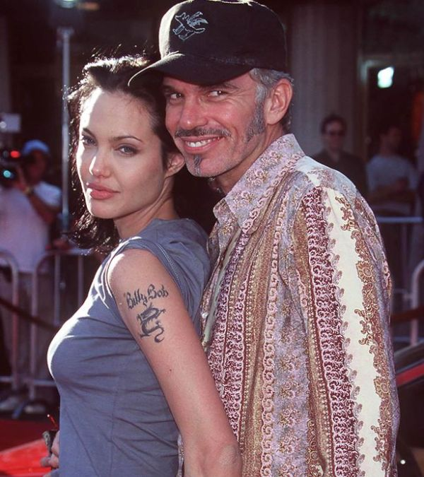 Angelina Jolie with then-husband Billy Bob Thornton at the