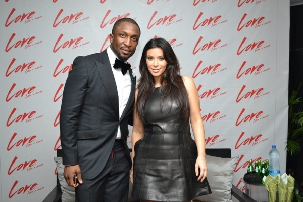 Darey ARt Alade and Kim Kardashian at the Love Like A Movie  concert which held on Sunday, February 17, 2013 at the Convention Centre of The Eko Hotel and Suites, V.I, Lagos (2)