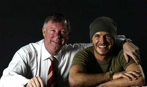 David Beckham, Sir Alex Ferguson